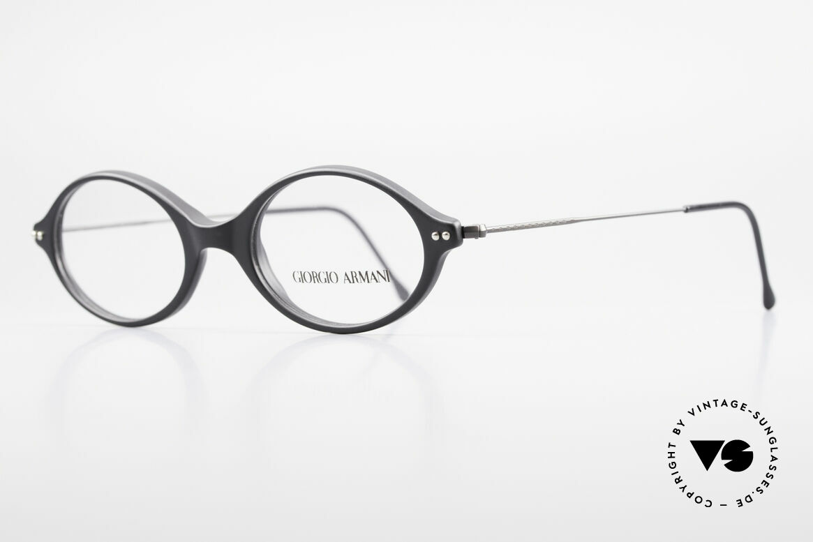 "Giorgio Armani 378 90's Vintage Unisex Frame Oval, lightweight plastic front with thin ""wire temples"", Made for Men and Women"
