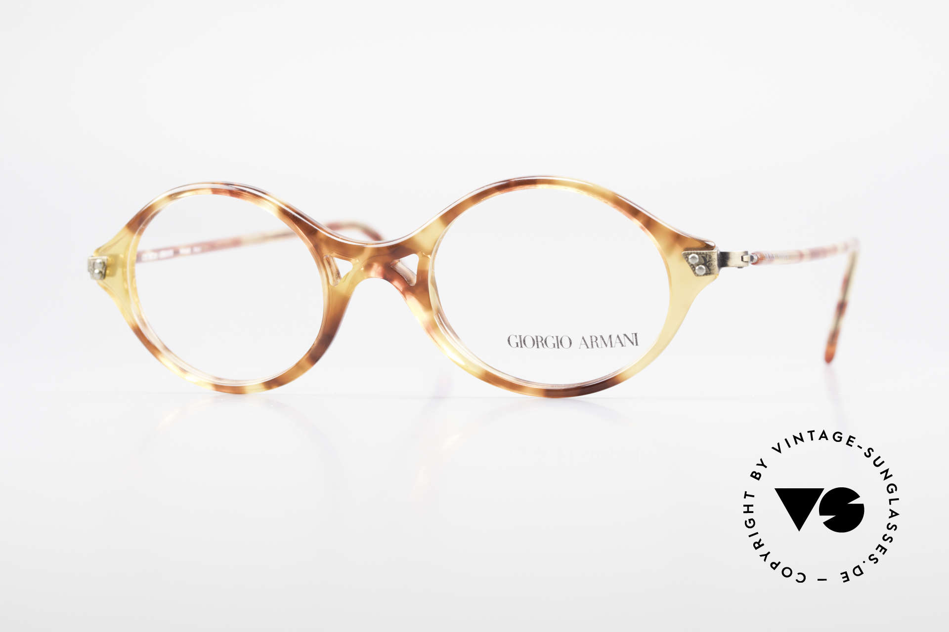 Giorgio Armani 339 Small Oval 90's Eyeglasses, vintage designer eyeglass-frame by Giorgio Armani, Made for Men and Women