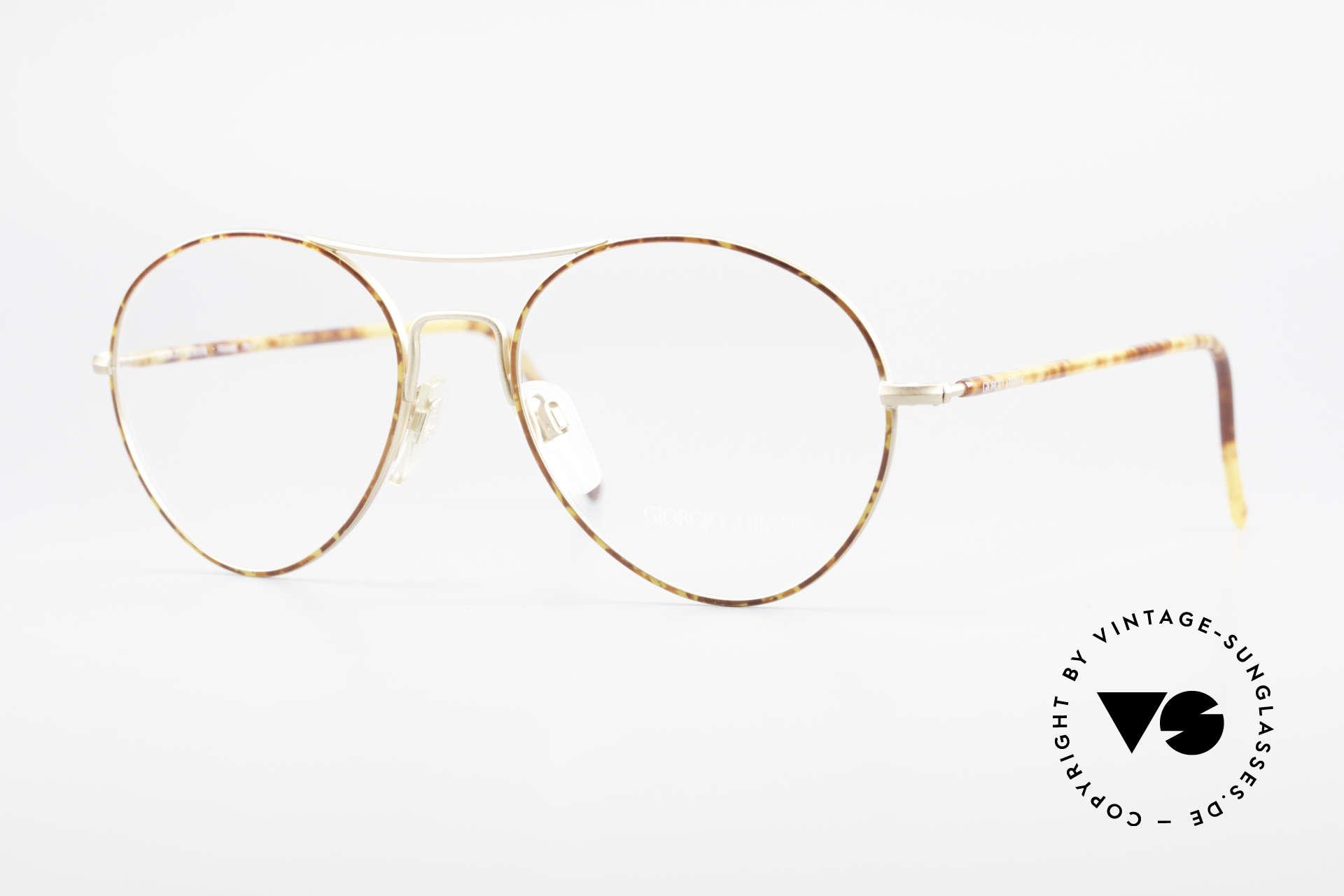 Giorgio Armani 120 Vintage Aviator Glasses Men, men's eyeglasses by the fashion designer G.Armani, Made for Men