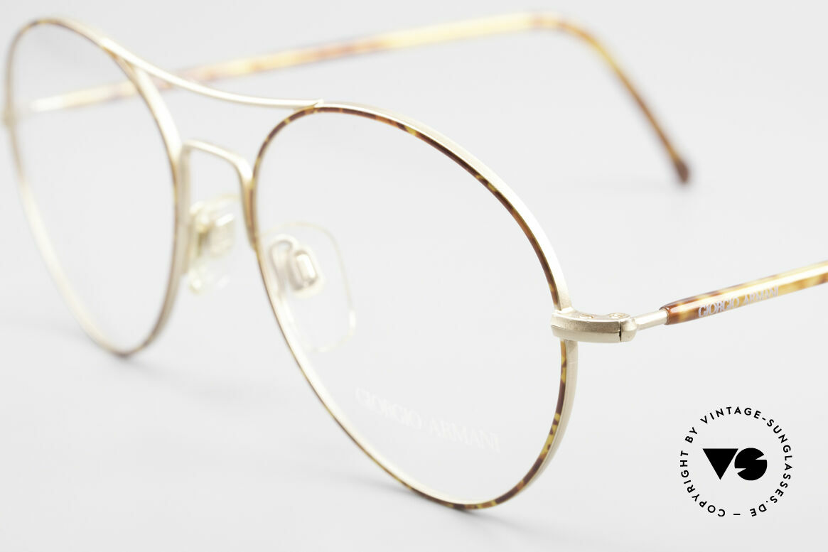 Giorgio Armani 120 Vintage Aviator Glasses Men, a timeless style (suitable for every kind of look), Made for Men