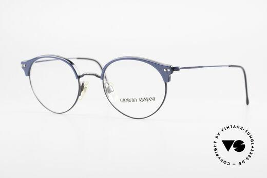 Giorgio Armani 377 90's Panto Style Eyeglasses Details
