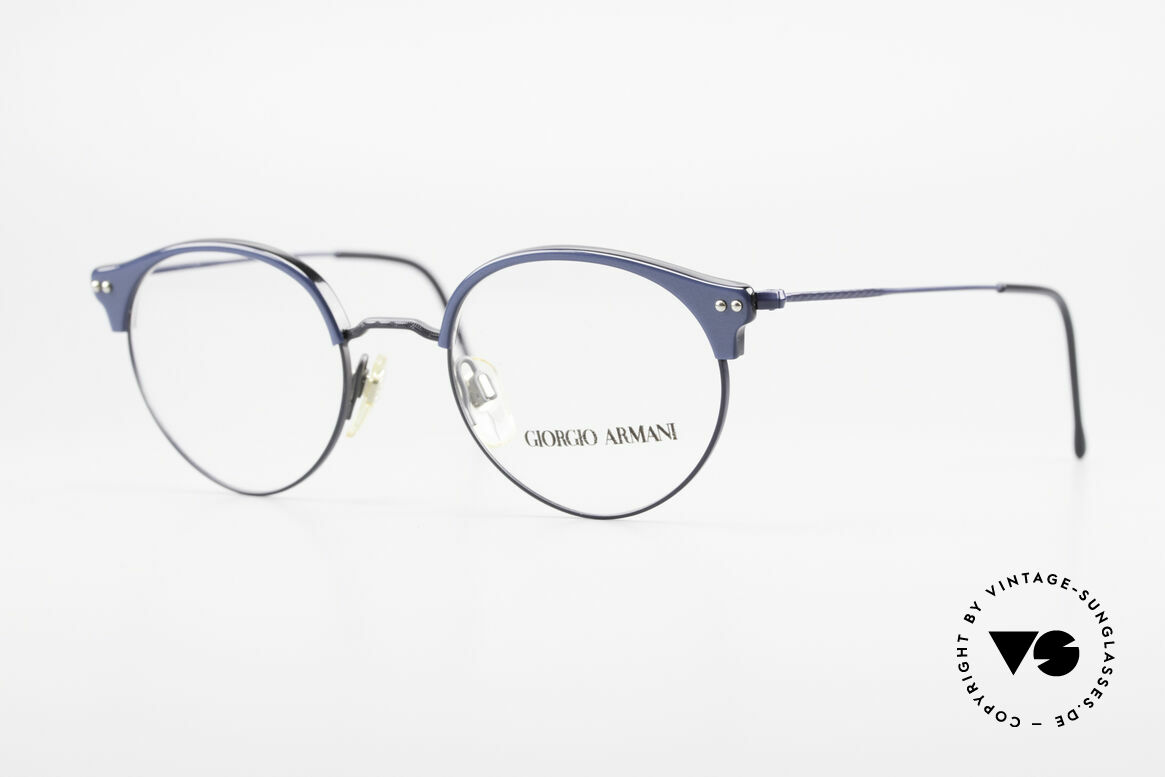 Giorgio Armani 377 90's Panto Style Eyeglasses, timeless vintage Giorgio ARMANI designer eyeglasses, Made for Men and Women