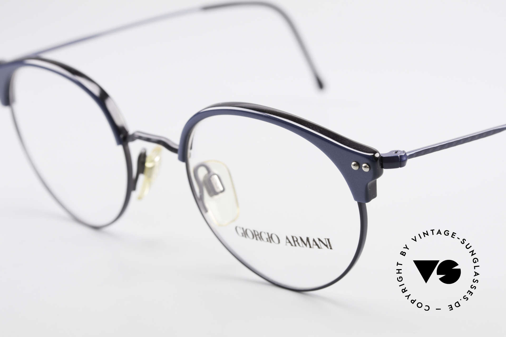 Giorgio Armani 377 90's Panto Style Eyeglasses, unworn (like all our vintage Giorgio Armani eyewear), Made for Men and Women