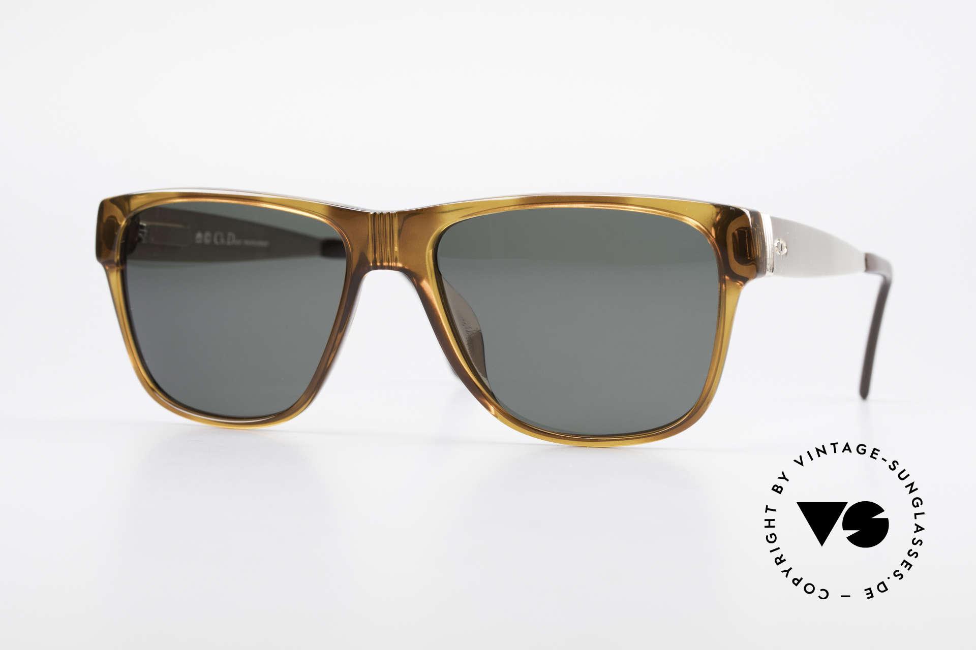 Christian Dior 2406 Vintage Dior Monsieur Series, Christian Dior vintage sunglasses from the early 1980's, Made for Men