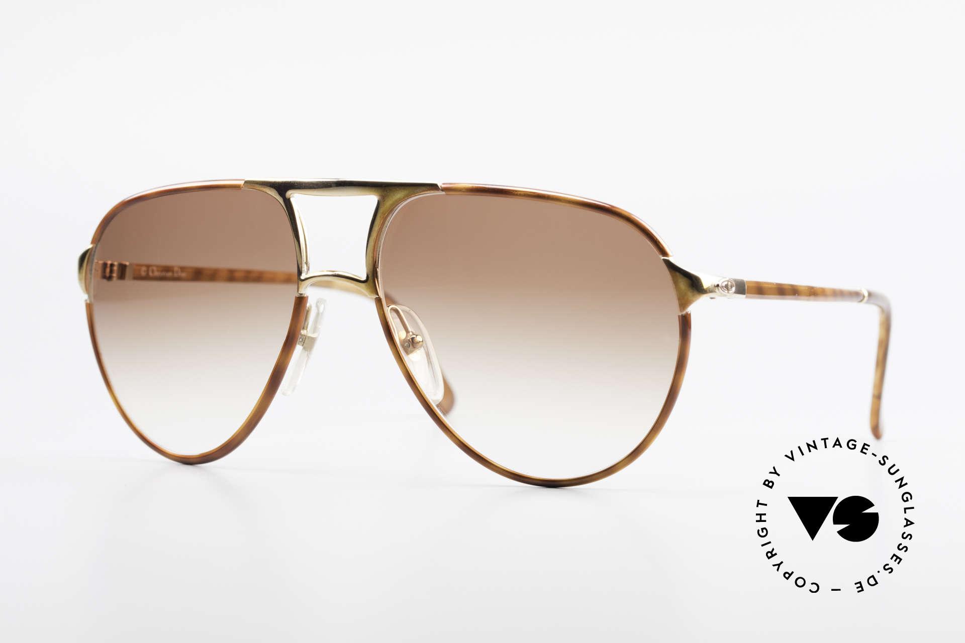 Christian Dior 2505 Designer Aviator Sunglasses, famous Christian Dior sunglasses from 1988/89, Made for Men