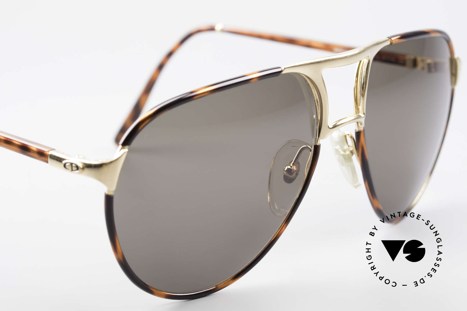 Christian Dior 2505 Aviator Designer Sunglasses, new old stock (like all our vintage 1980's Diors), Made for Men