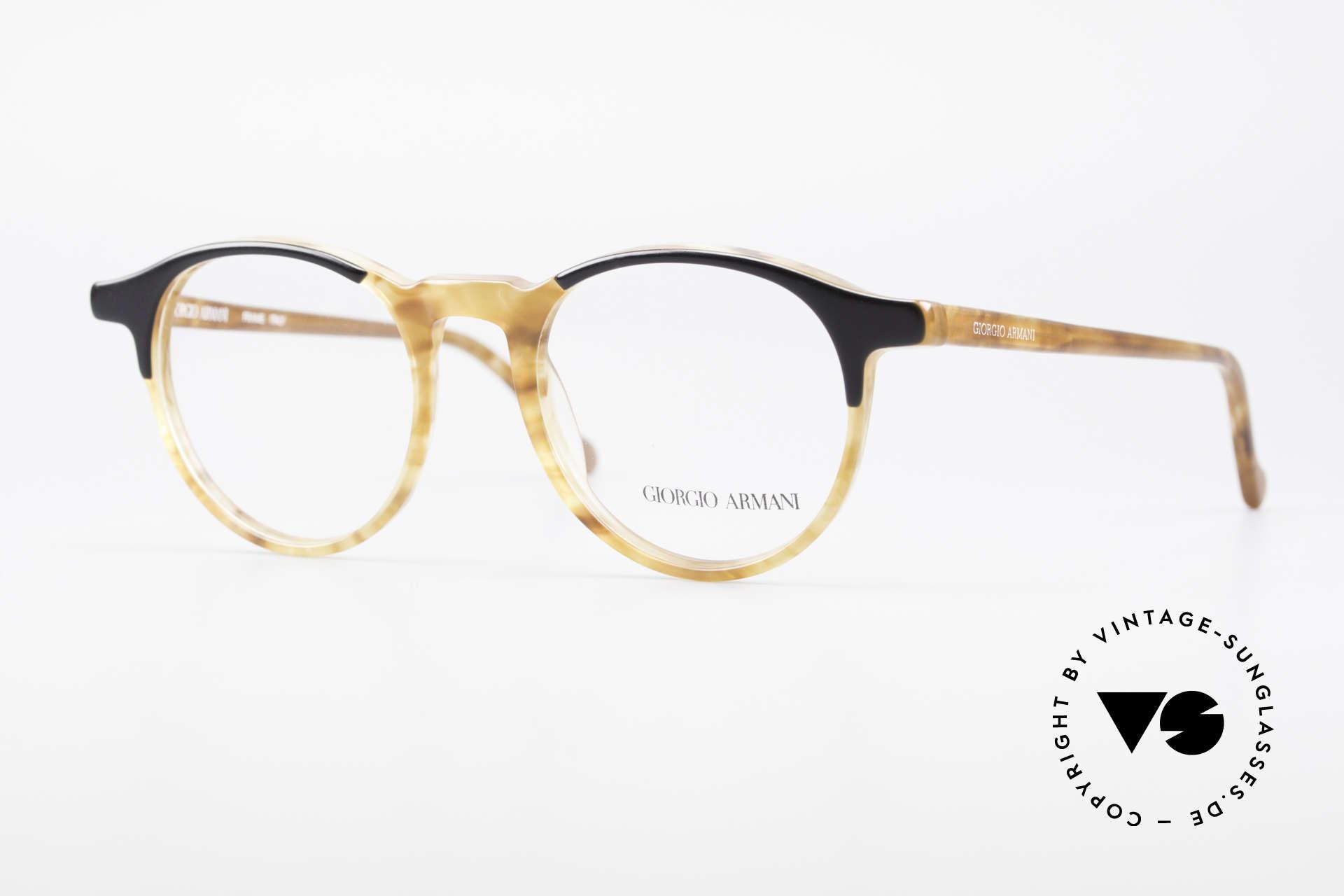Giorgio Armani 301 Johnny Depp Style Panto Frame, timeless Giorgio Armani designer eyeglasses from Italy, Made for Men