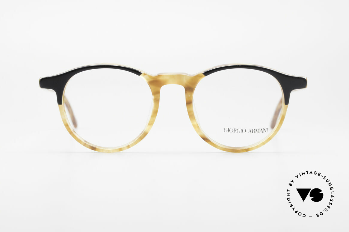 Giorgio Armani 301 Johnny Depp Style Panto Frame, a true vintage 'eyewear classic' in coloring and design, Made for Men