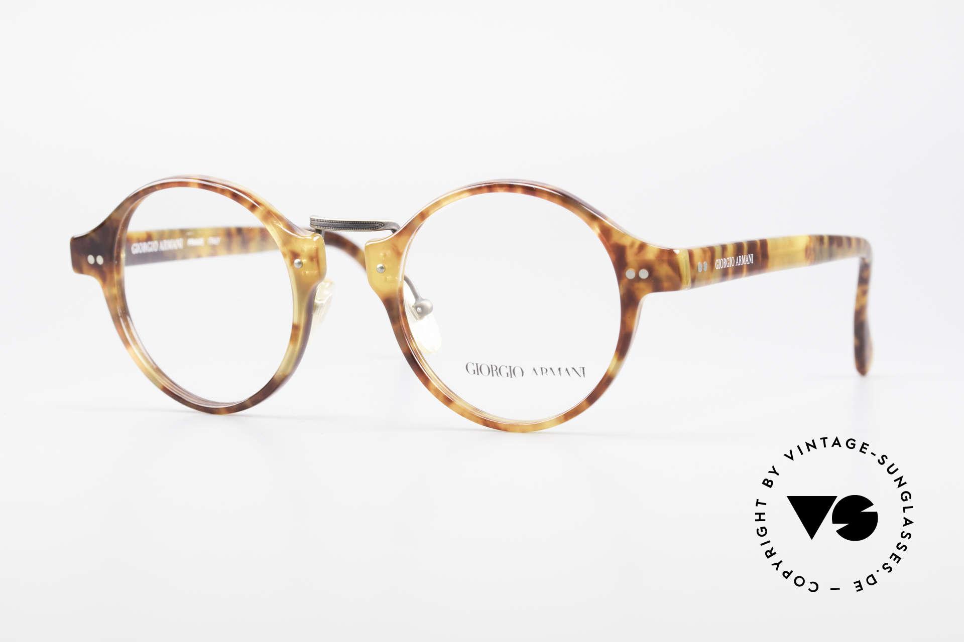 Giorgio Armani 341 Vintage Panto Eyeglass-Frame, timeless vintage Giorgio Armani designer eyeglasses, Made for Men