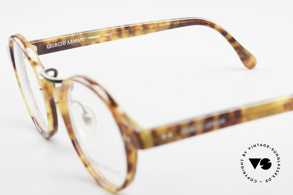 Giorgio Armani 341 Vintage Panto Eyeglass-Frame, never worn (like all our vintage Giorgio Armani specs), Made for Men