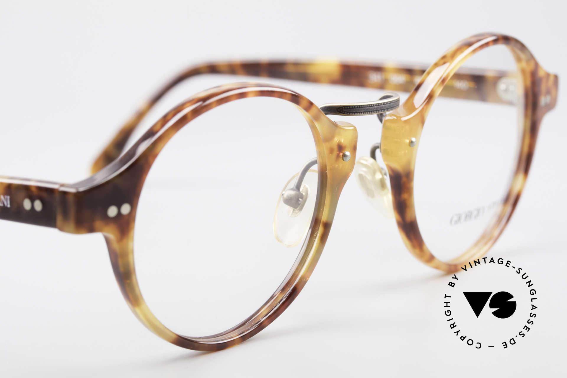 Giorgio Armani 341 Vintage Panto Eyeglass-Frame, NO retro frame, but an unique 30 years old ORIGINAL!, Made for Men