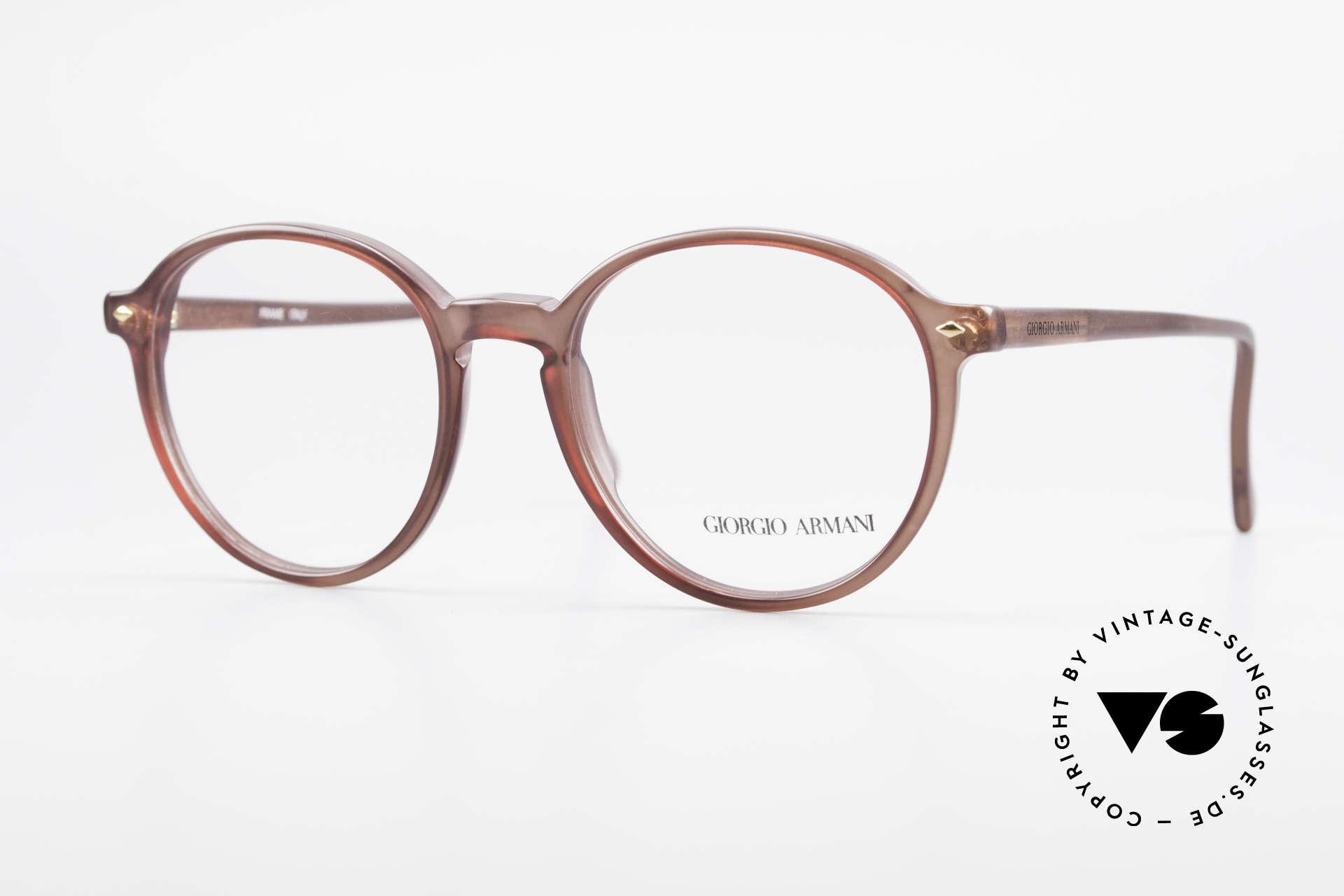 Giorgio Armani 325 Vintage Panto 90's Eyeglasses, timeless vintage Giorgio Armani designer eyeglasses, Made for Men