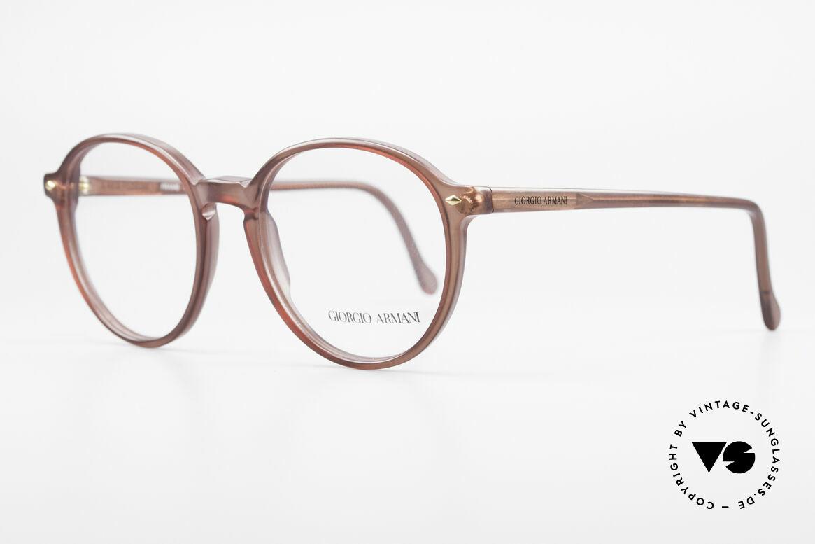 Giorgio Armani 325 Vintage Panto 90's Eyeglasses, tangible premium craftsmanship; in a MEDIUM size, Made for Men