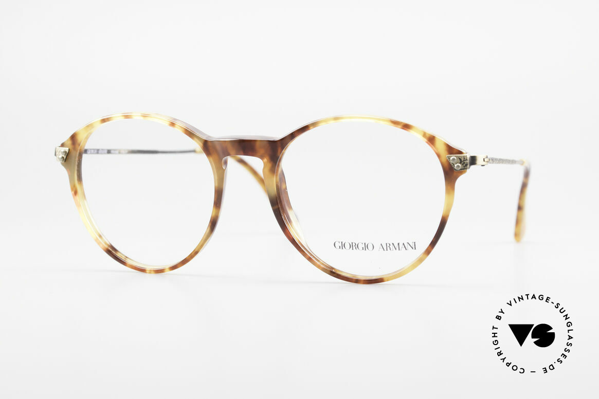 Giorgio Armani 329 Small 90's Panto Eyeglasses, timeless vintage Giorgio Armani designer eyeglasses, Made for Men