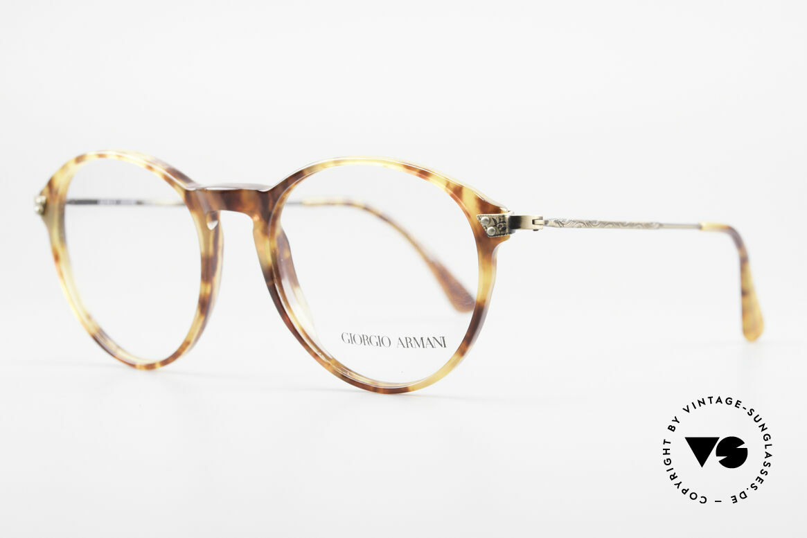 Giorgio Armani 329 Small 90's Panto Eyeglasses, very interesting frame pattern; in SMALL size 50-18, Made for Men