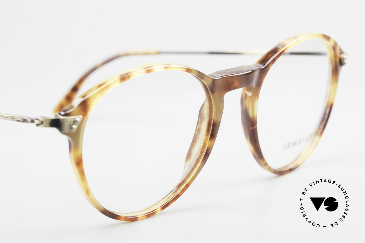 Giorgio Armani 329 Small 90's Panto Eyeglasses, unworn (like all our vintage Giorgio Armani glasses), Made for Men