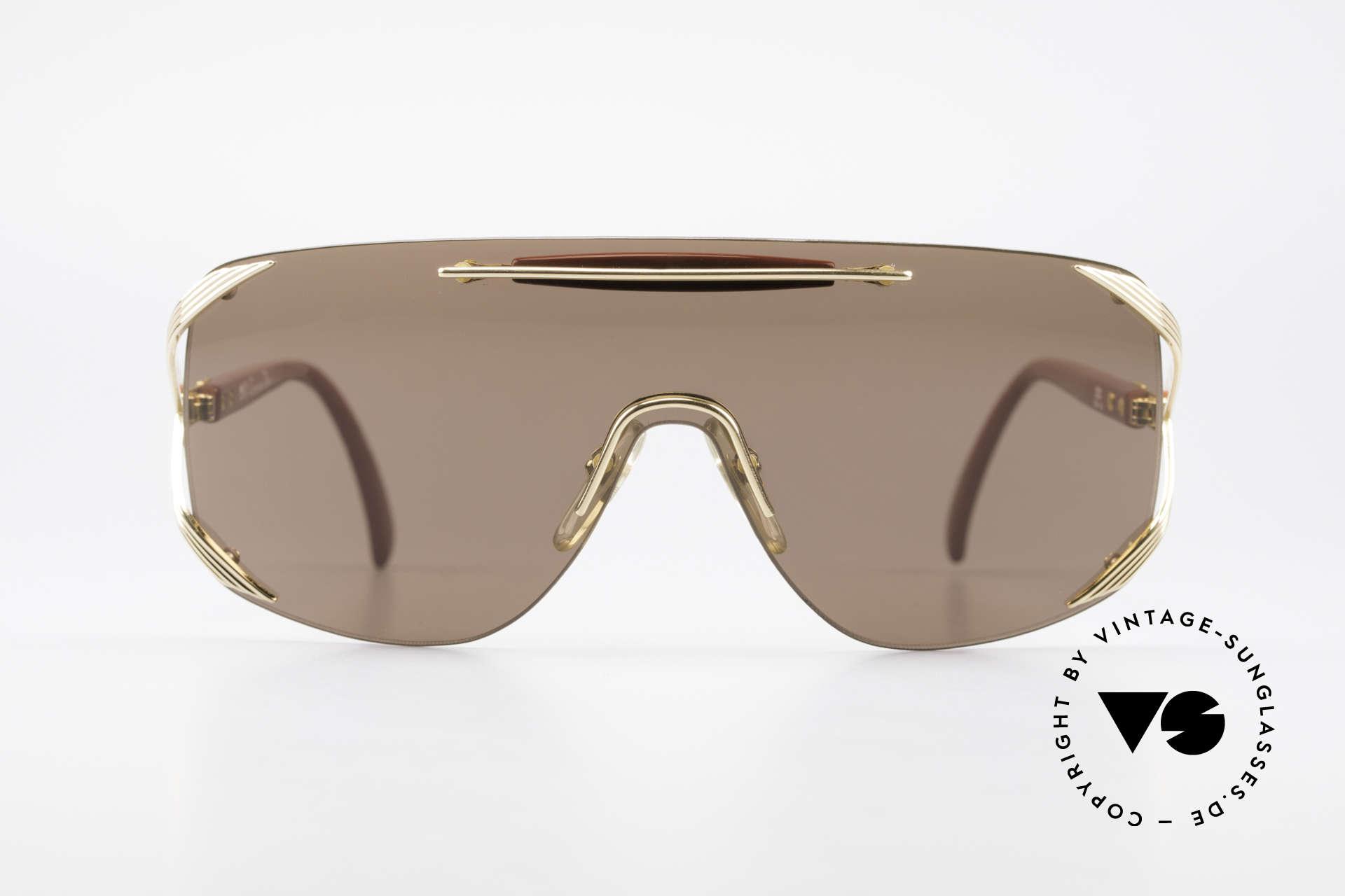 "Christian Dior 2434 Rihanna Vintage Sunglasses, single lens (""shield design"") for a PANORAMA view, Made for Women"