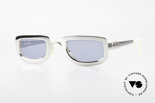 Christian Dior 2972 Designer Shades Silver Nacre Details