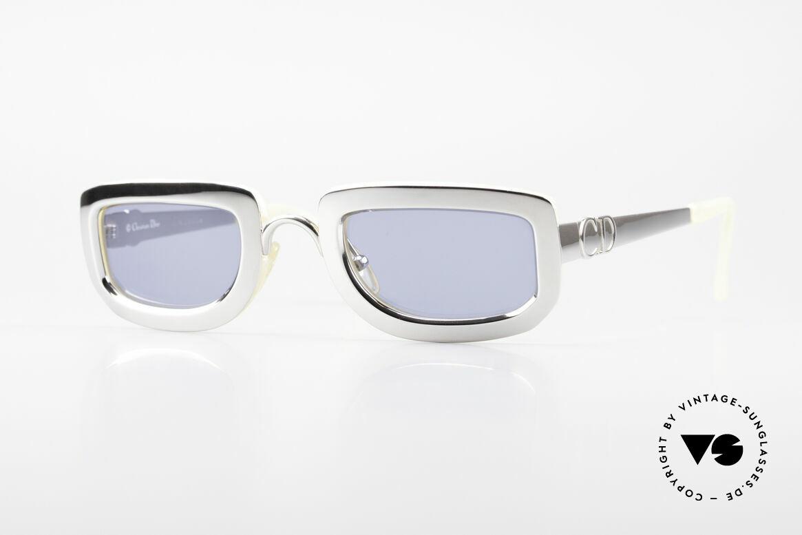 Christian Dior 2972 Designer Shades Silver Nacre, striking, futuristic sunglass' design by Christian DIOR, Made for Women