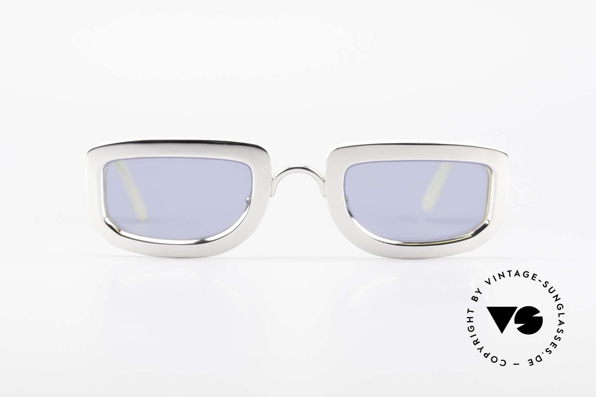 Christian Dior 2972 Designer Shades Silver Nacre, rare, MASSIVE vintage sunglasses from app. 1995/1996, Made for Women