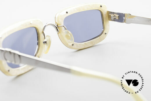 Christian Dior 2972 Designer Shades Silver Nacre, sun lenses could be replaced with prescription lenses, Made for Women