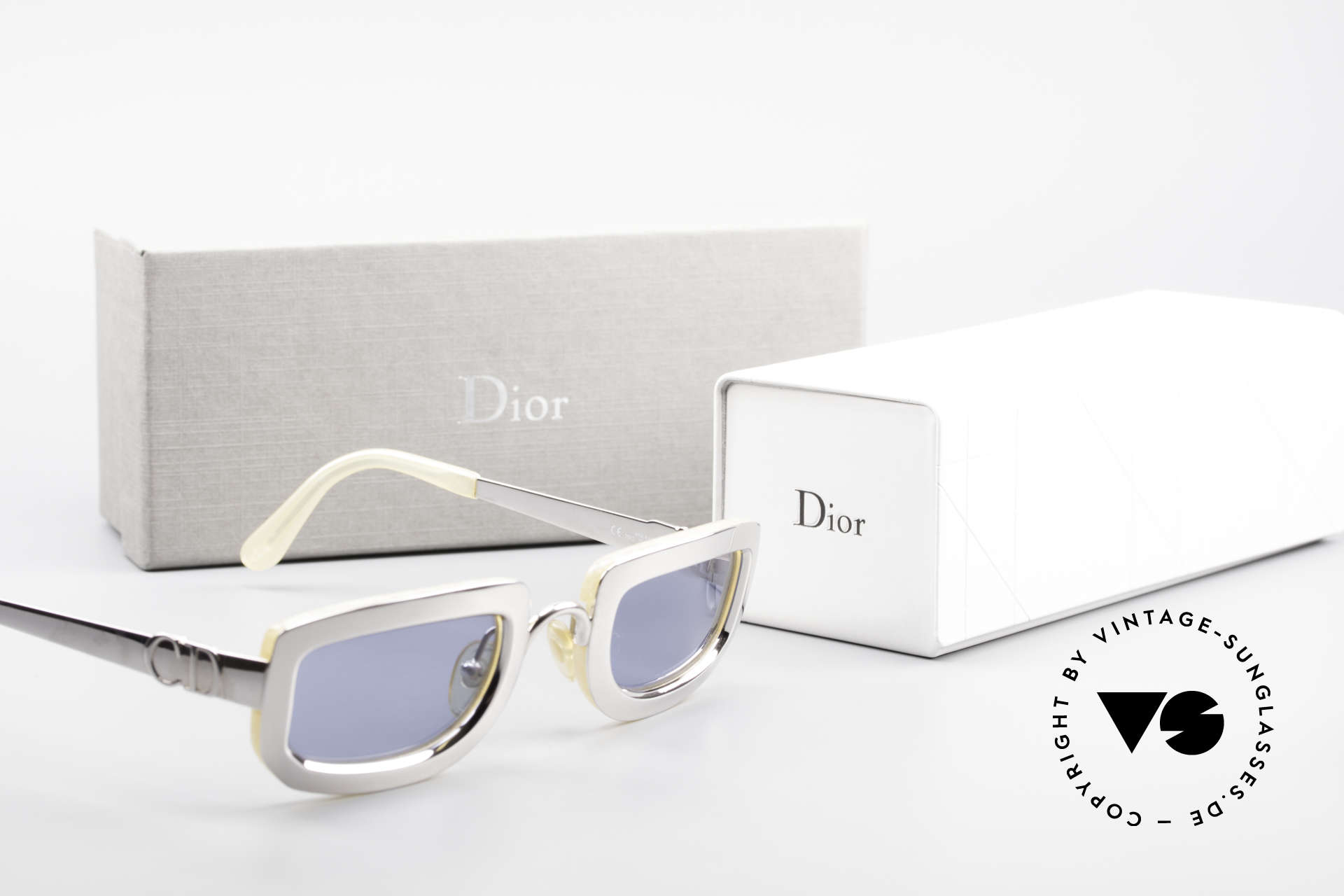 Christian Dior 2972 Designer Shades Silver Nacre, Size: small, Made for Women