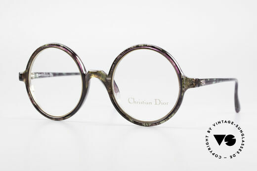 Christian Dior 2540 Round 90's Ladies Eyeglasses Details