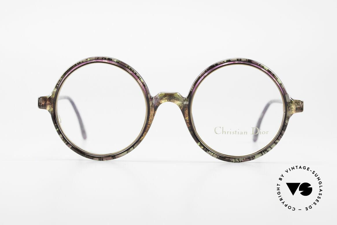 Christian Dior 2540 Round 90's Ladies Eyeglasses, lovely Christian Dior vintage eyeglasses from 1990, Made for Women