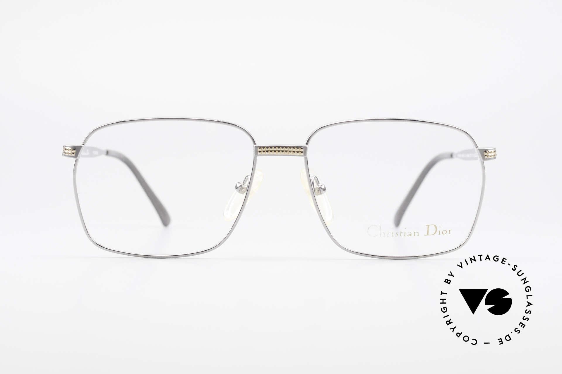 Christian Dior 2791 Titanium Eyeglass-Frame 90's, titanium metal frame with particular gravure; high-end, Made for Men