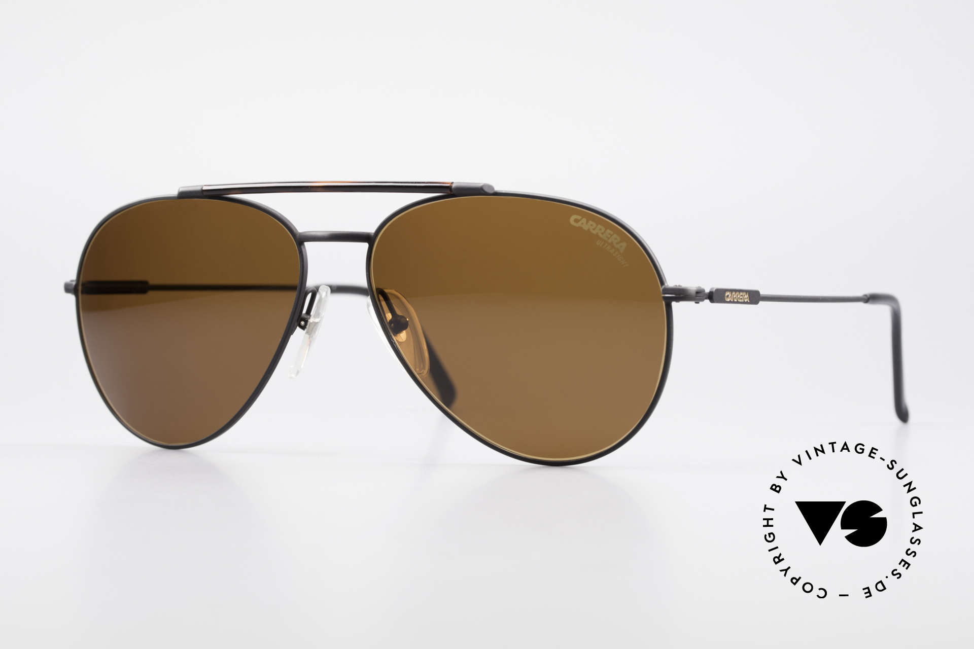 Carrera 5349 True Vintage Aviator Shades, classic vintage 80's designer sunglasses by Carrera, Made for Men
