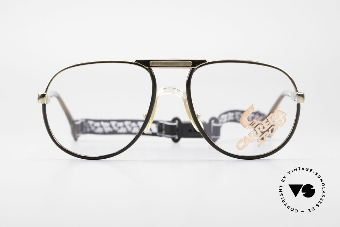 Carrera 5511 Sports Glasses 80's Vintage, great material combination and frame coloring, Made for Men