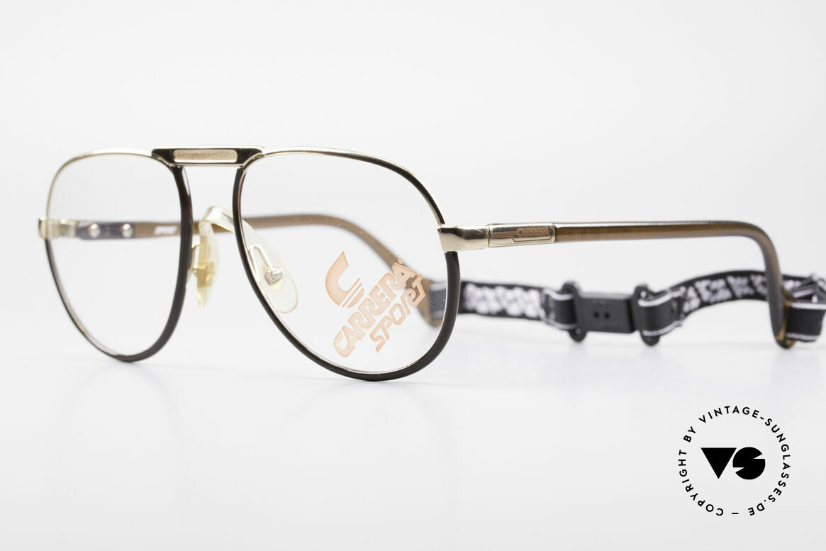"Carrera 5511 Sports Glasses 80's Vintage, from the rare CARRERA ""SPORT"" series + strap, Made for Men"