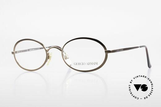 Giorgio Armani 277 90's Rare Vintage Frame Oval Details