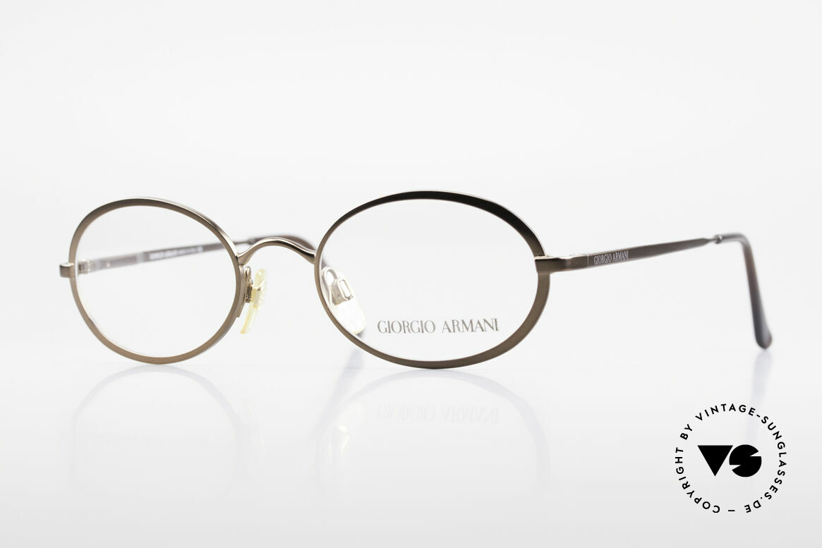 Giorgio Armani 277 90's Rare Vintage Frame Oval, oval designer eyeglass-frame by GIORGIO ARMANI, Made for Men and Women