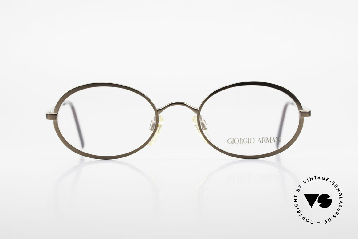 Giorgio Armani 277 90's Rare Vintage Frame Oval, sober, timeless style: suitable for many occasions, Made for Men and Women