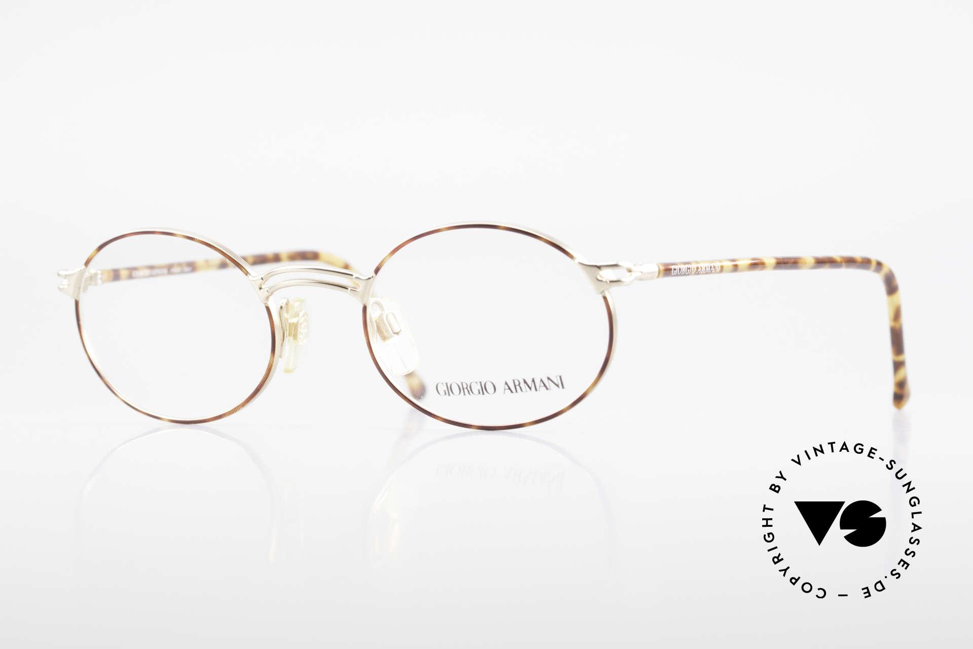 Giorgio Armani 194 Oval 90s Eyeglasses No Retro, vintage designer eyeglasses by Giorgio Armani, Italy, Made for Men and Women