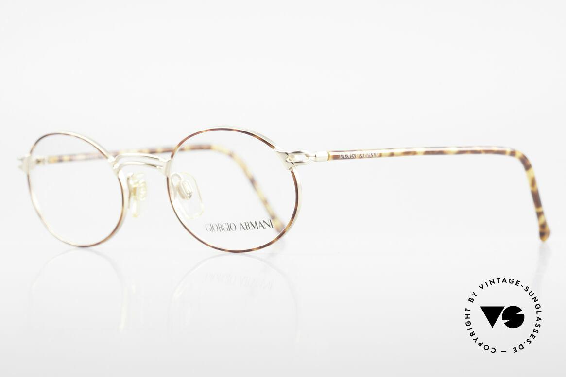 Giorgio Armani 194 Oval 90s Eyeglasses No Retro, premium craftsmanship & interesting chestnut color, Made for Men and Women