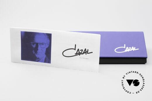 Cazal 328 Oval Vintage Sunglasses 90's, brown-gradient sun lenses (100% UV protection), Made for Women