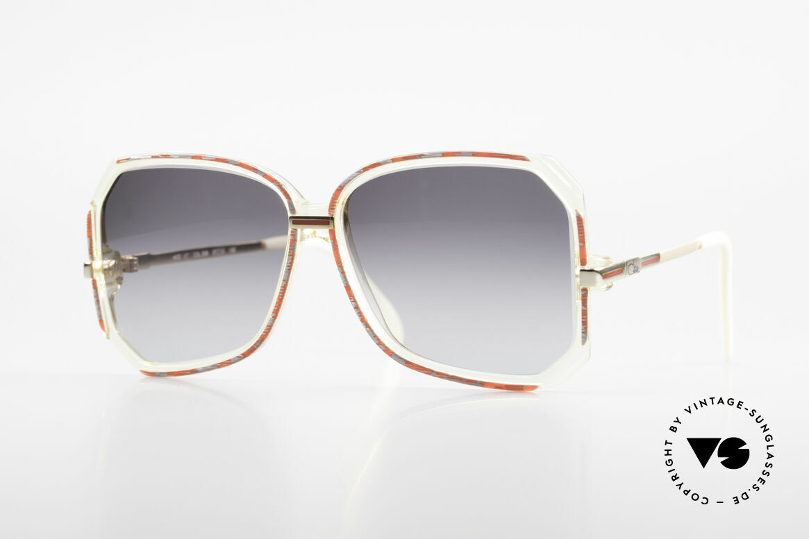 Cazal 167 West Germany 80's Shades, creative eyewear design by CAZAL (around 1986), Made for Women