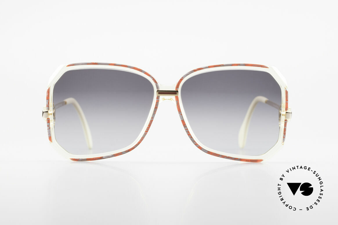 Cazal 167 West Germany 80's Shades, great combination of transparency, color & shape, Made for Women