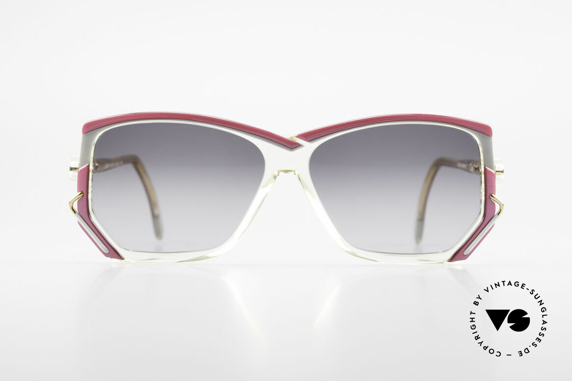 Cazal 197 80's Designer Sunglasses, crystal clear frame with a brilliant color composition, Made for Women