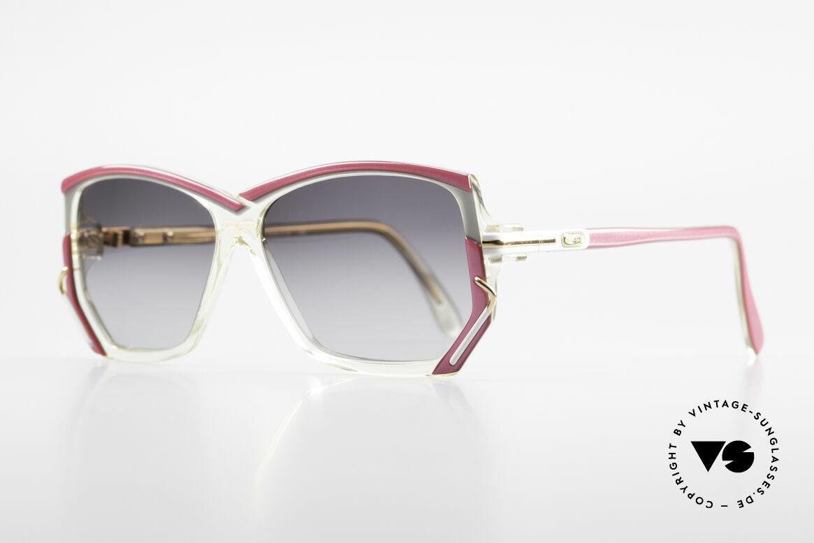Cazal 197 80's Designer Sunglasses, distinctive 1980's designer piece in SMALL size 55-12, Made for Women
