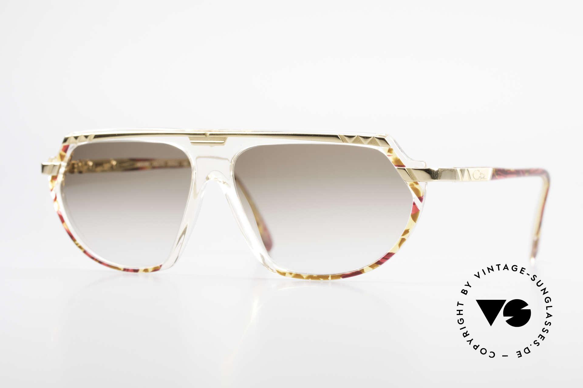 Cazal 344 Old School Crystal Sunglasses, vintage CAZAL designer sunglasses from 1989/1990, Made for Women