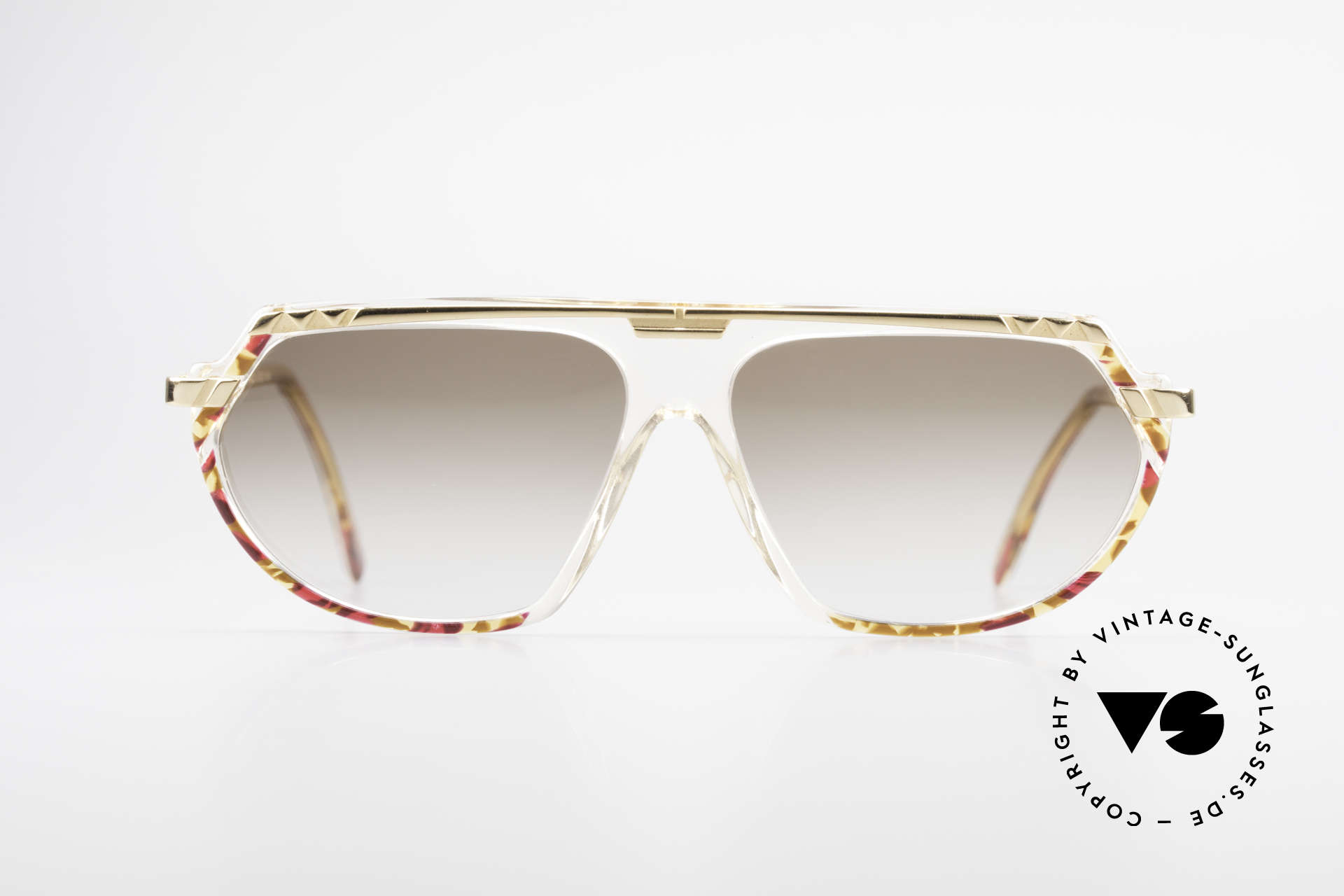 Cazal 344 Old School Crystal Sunglasses, crystal clear frame (distinctive for the 300's series), Made for Women