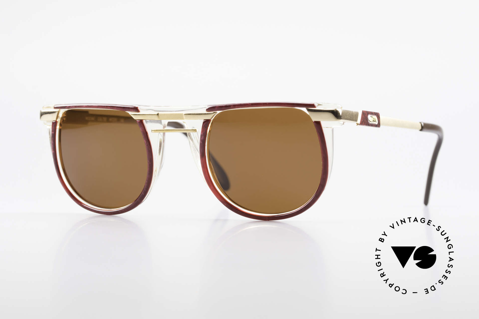 Cazal 647 90's Vintage Designer Shades, roundish 1990's designer sunglasses by CAZAL, Made for Men and Women