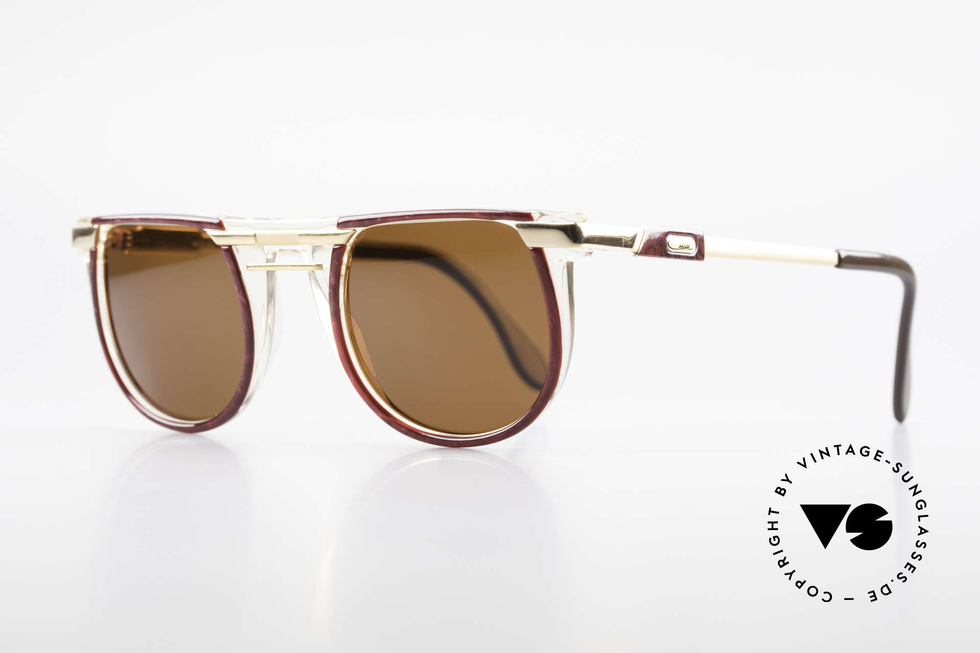 Cazal 647 90's Vintage Designer Shades, great combination of colors, shapes & materials, Made for Men and Women