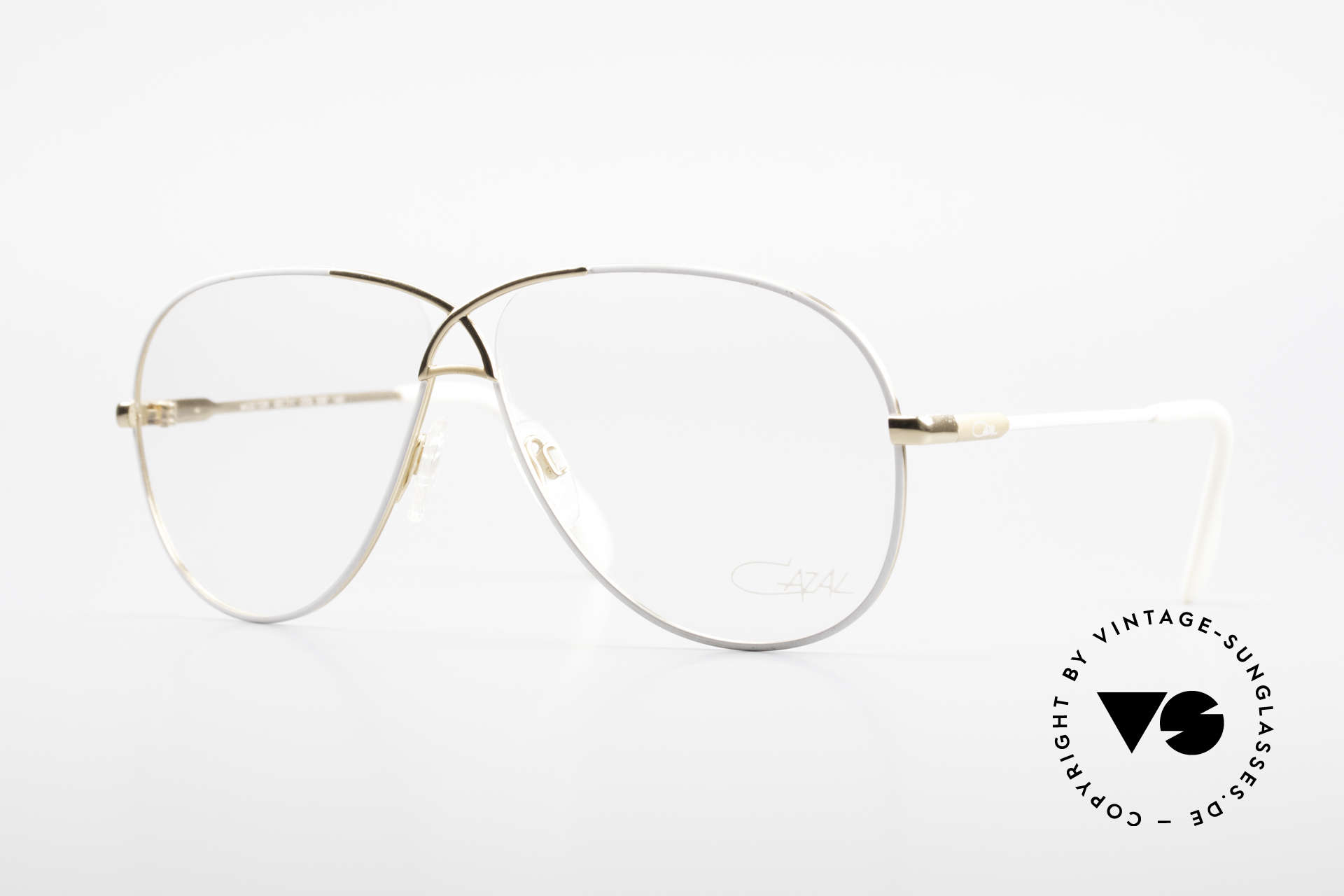 Cazal 728 Aviator Style Vintage Glasses, legendary aviator design from the 80's by Cazal, Made for Men and Women