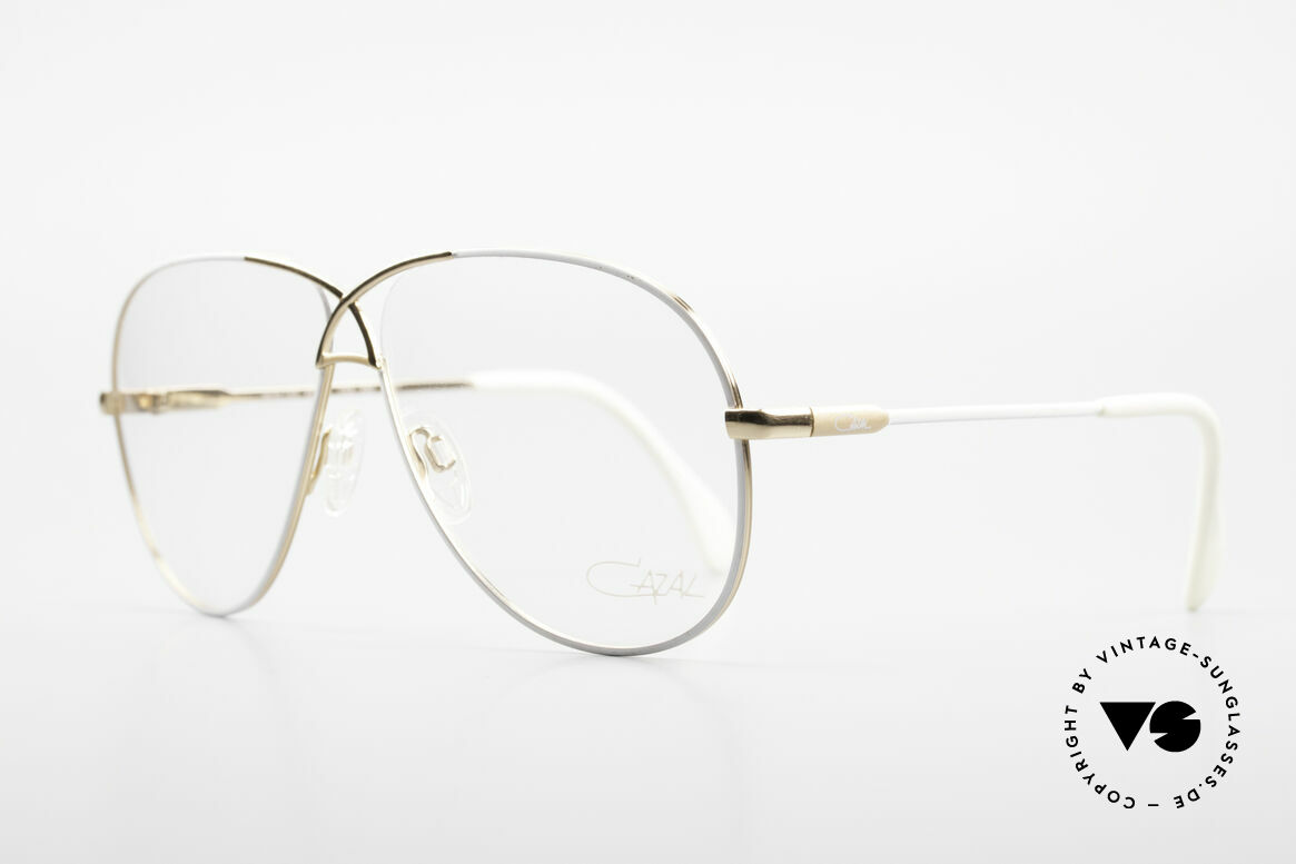 Cazal 728 Aviator Style Vintage Glasses, lightweight curved frame; Large size 62-11, 140, Made for Men and Women