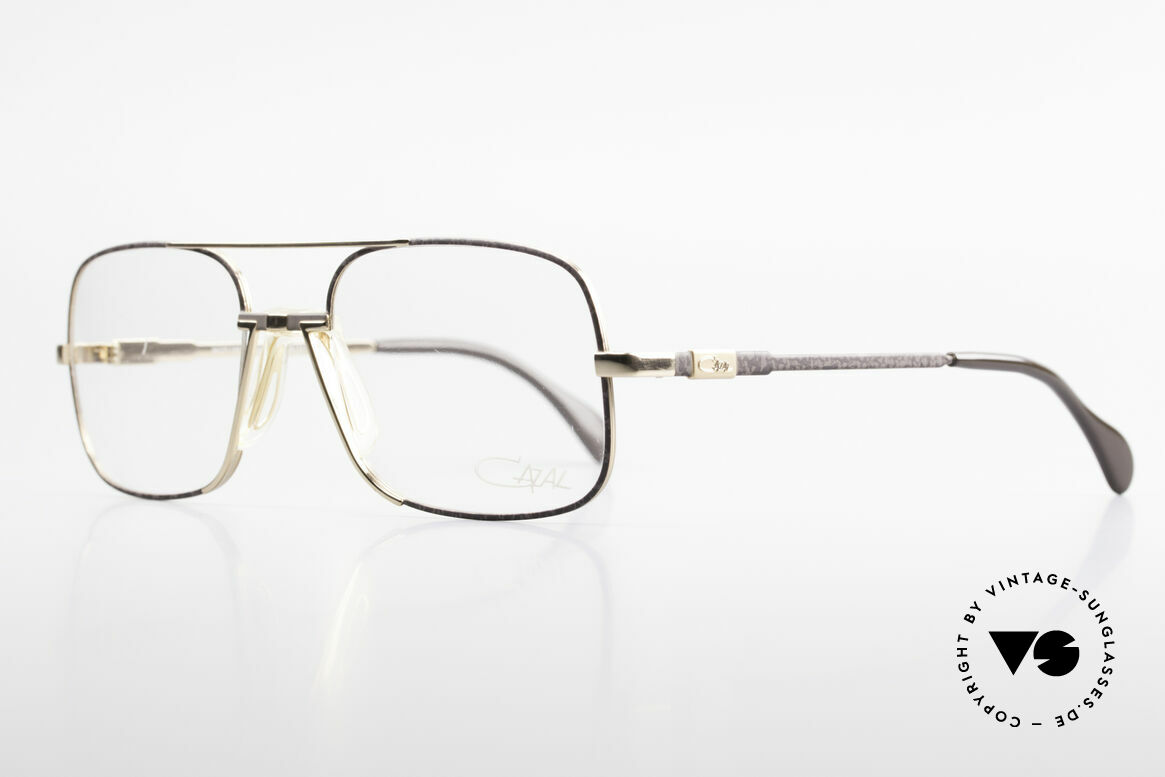 Cazal 740 Vintage Eyeglasses Men 90's, ultra rare gold/marbled-gray frame, precious & noble!, Made for Men