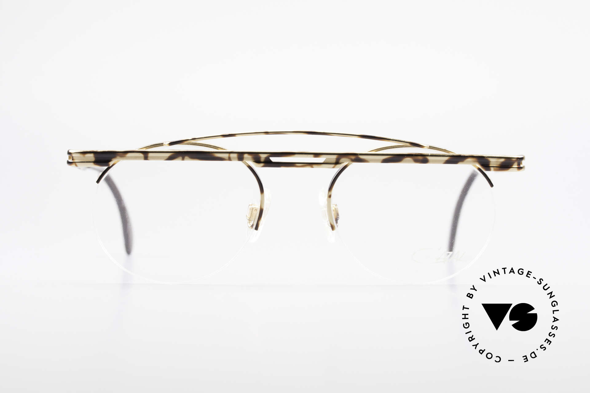 Cazal 748 Rare Vintage No Retro Glasses, great geometrical play (round & square, at the same time), Made for Men and Women